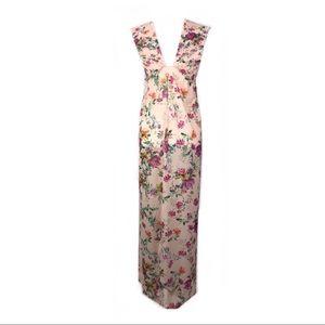 Zara dress maxi floral Ruched sleeveless boho